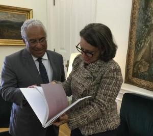 Primer Ministro de Portugal, António Costa, y Secretaria General Iberoamericana, Rebeca Grynspan