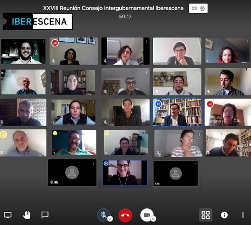 reunión virtual iberescena