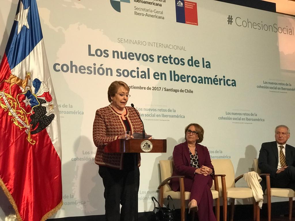 Bachelet habla