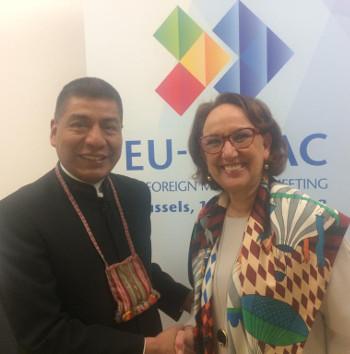Bilateral con Fernando Huanacuni