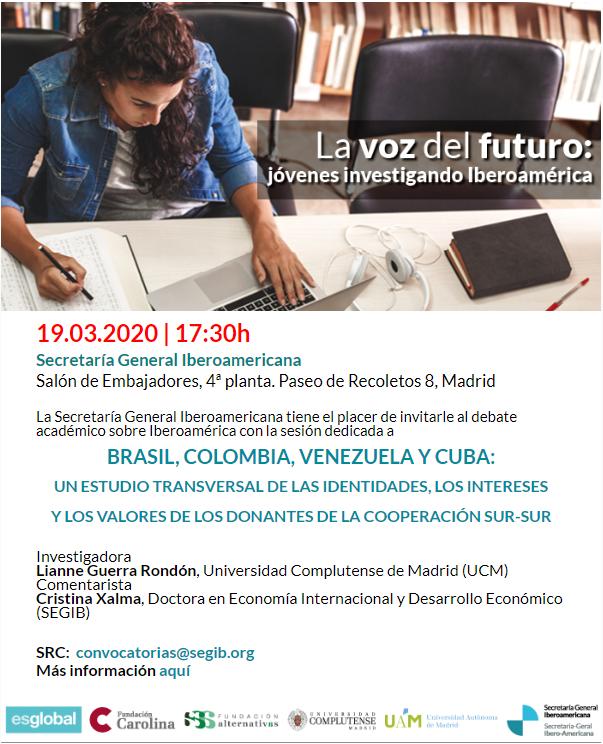 Invitación Jóvenes investigando Iberoamérica