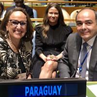 Secretaria general iberoamericana, Rebeca Grynspan y ministro de relaciones Exteriores del Paraguay, Antonio Rivas Palacios