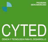 logotipo CYTED: Programa Iberoamericano de Ciencia y Tecnología para el Desarrollo