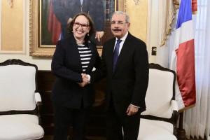 Danilo Medina y Rebeca Grynspan