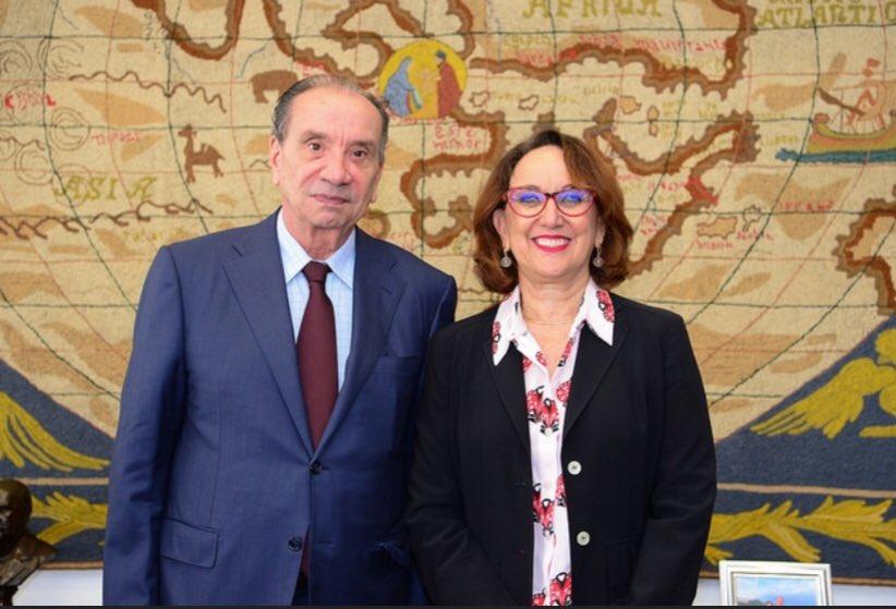 La Secretaria General Iberoamericana y el Canciller de Brasil, Aloysio Nunes