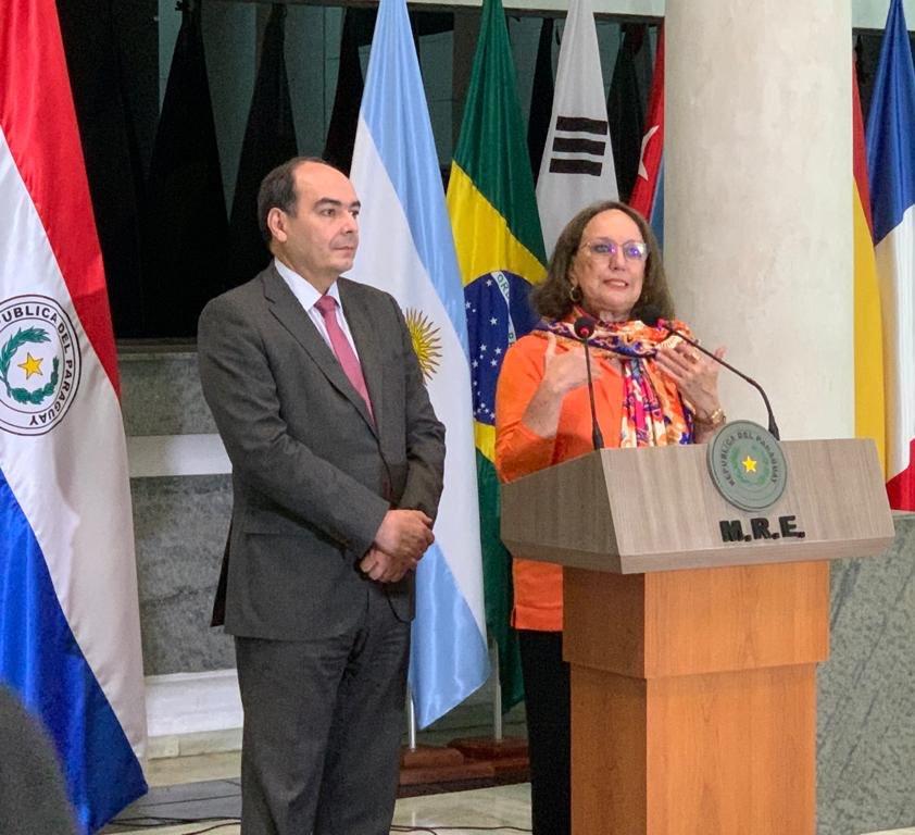 Secretaria Grynspan y Canciller Rivas de Paraguay