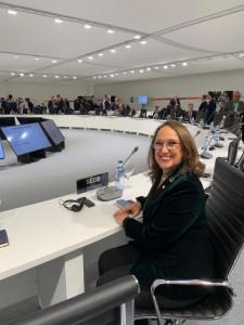 La secretaria general iberoamericana, Rebeca Grynspan, en la COP25