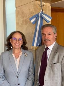 Felipe Solá, Canciller de Argentina y Rebeca Grynspan, Secretaria General Iberoamericana