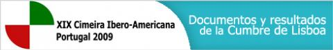 """logotipo XIX Cumbre Iberoamericana Estoril 2009 – """"Innovación y Conocimiento"""""""