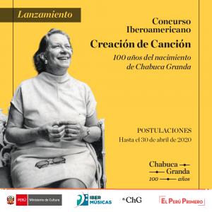 Flyer_Concurso 100 Chabuca Ibermúsica
