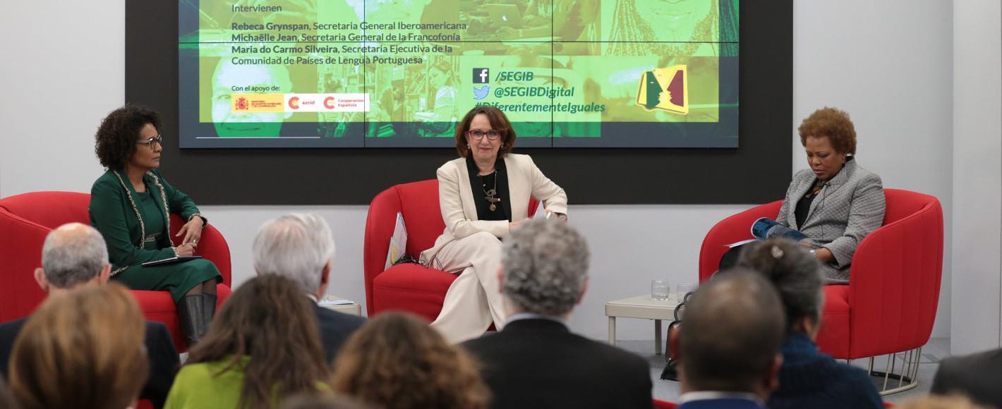 """""""Lenguas y desarrollo sostenible: formación, movilidad y empleo"""" Encuentro de tres espacios lingüísticos"""