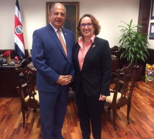 Secretaria General Iberoamericana, Rebeca Grynspan y Presidente de Costa Rica, Luis Guillermo Solis