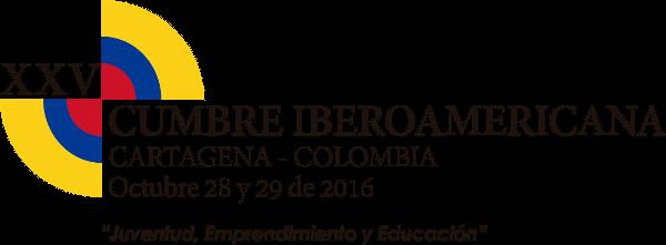 """logotipo XXV Cumbre Iberoamericana Cartagena de Indias 2016 – """"Juventud, emprendimiento y educación"""""""