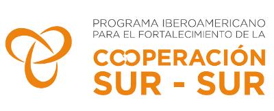 logotipo Programa Ibero-Americano para o Fortalecimento da Cooperação Sul-Sul
