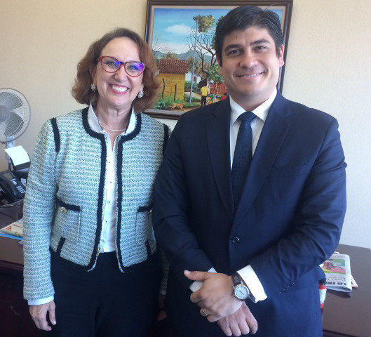 Secretaria General Iberoamericana, Rebeca Grynspan y Presidente electo de Costa Rica, Carlos Alvarado