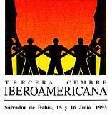 """logotipo III Cúpula Ibero-Americana Salvador de Bahía 1993 – """"Desenvolvimento, con ênfase no desenvolvimento social"""""""