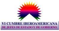 """logotipo VI Cumbre Iberoamericana Santiago y Viña del Mar 1996 – """"Desarrollo Político de Iberoamérica"""""""