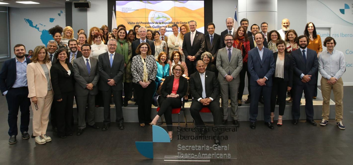 Visita Pte Luis Guillermo Solis a la SEGIB