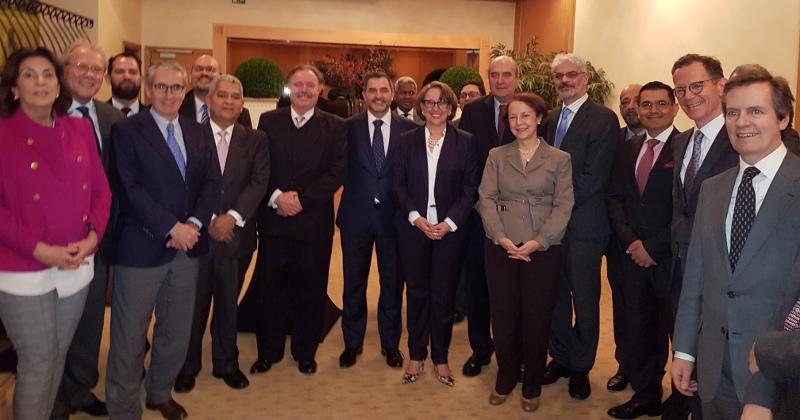 Reunión de la secretaria general iberoamericana, Rebeca Grynspan, con los Embajadores Iberoamericanos ante la Unión Europea