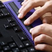 Trabajo en teclado braile