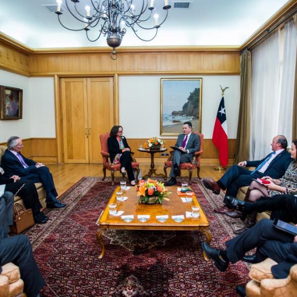 Reunión con ministro de Relaciones Exteriores de Chile, Roberto Ampuero
