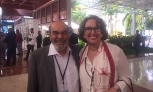 Graziano Da Silva, DIrector de FAO, y Rebeca Grynspan, Secretaria General Iberoamericana