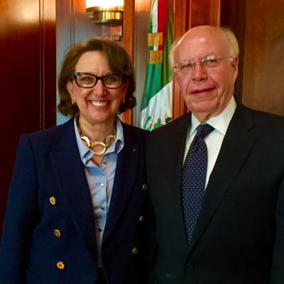 Rebeca Grynspan, Secretaria General Iberoamericana, y Narro Robles, Secretario de Salud de México