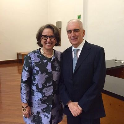 Rebeca Grynspan, Secretaria General Iberoamericana, y Rafael Tovar y de Teresa, Secretario de Cultura de México
