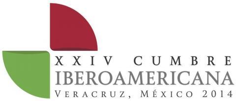 """logotipo XXIV Cúpula Ibero-Americana Veracruz 2014 – """"Ibero-América no Século XXI: Educação, Inovação e Cultura""""."""