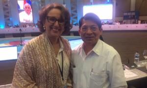 Denis Moncada, Canciller de Nicaragua, y Rebeca Grynspan, Secretaria General Iberoamericana