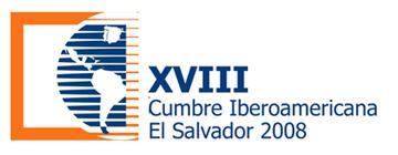"""logotipo XVIII Cúpula Ibero-Americana San Salvador 2008 –  """"Juventude e Desenvolvimento"""""""