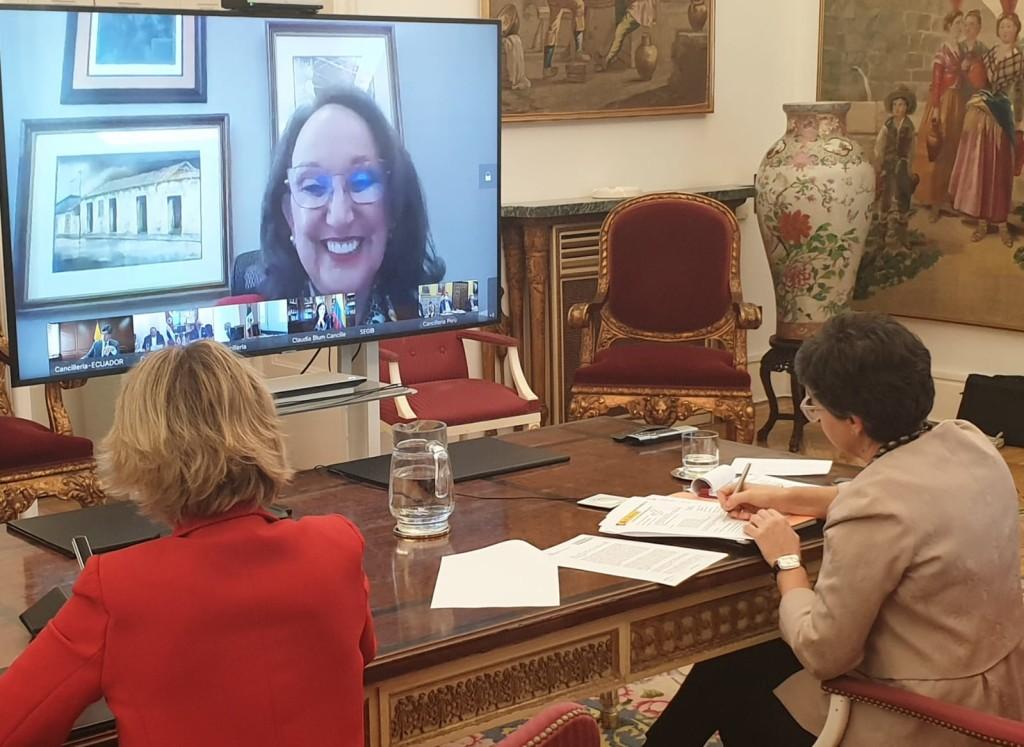 Videoconferencia Cancilleres Iberoamericanos