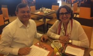 Nestor Popolizio, Vicecanciller de Perú, y Rebeca Grynspan, Secretaria General Iberoamericana